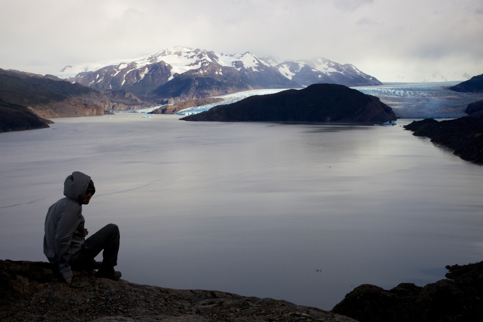 Looking over Lago Grey to Glaciar Grey