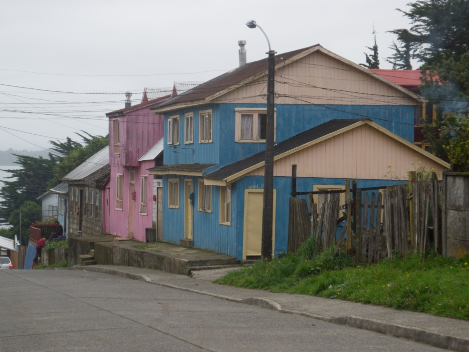A residential street in the centre of Ancud