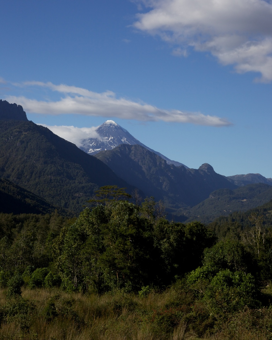 Volcan Lanin from the road from Pucon to Puesco