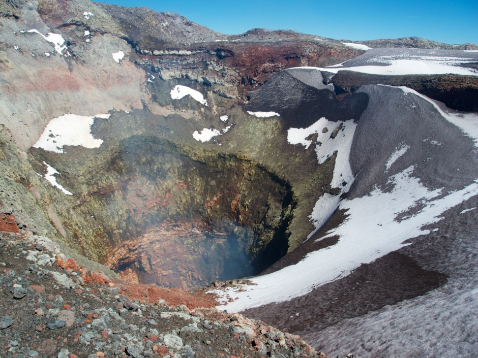 Looking into the crater on Volcan Villarica