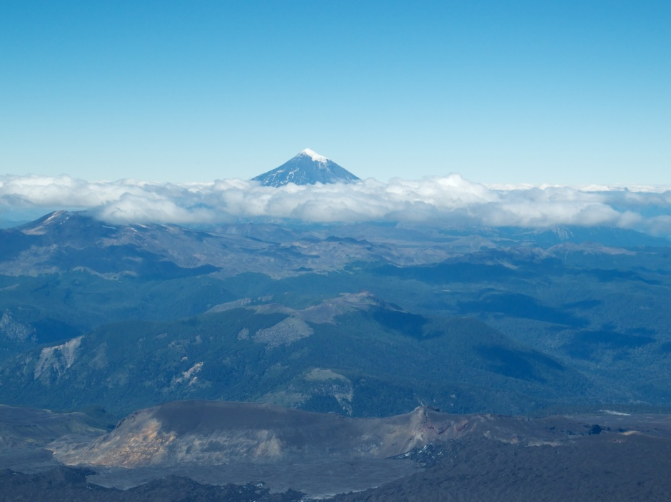 View of Lanin from the top of Villarica