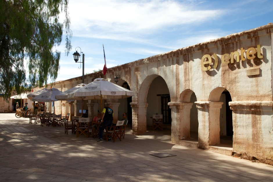 The main square of San Pedro