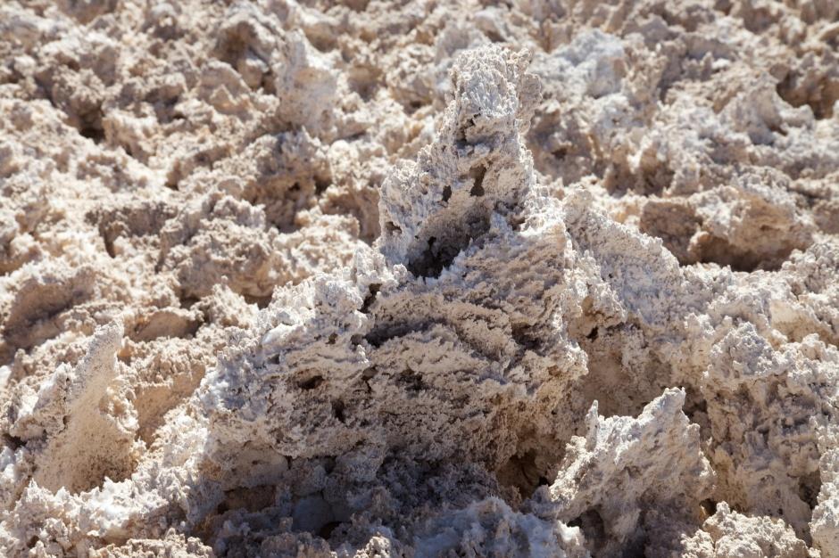 Close up of the Salt Flats