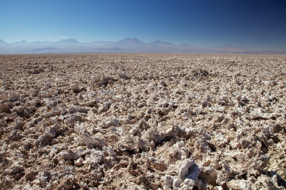 Salt Flats with the Andes behind