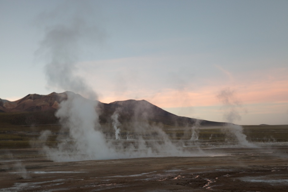 Some of the Tatio geysers at first light
