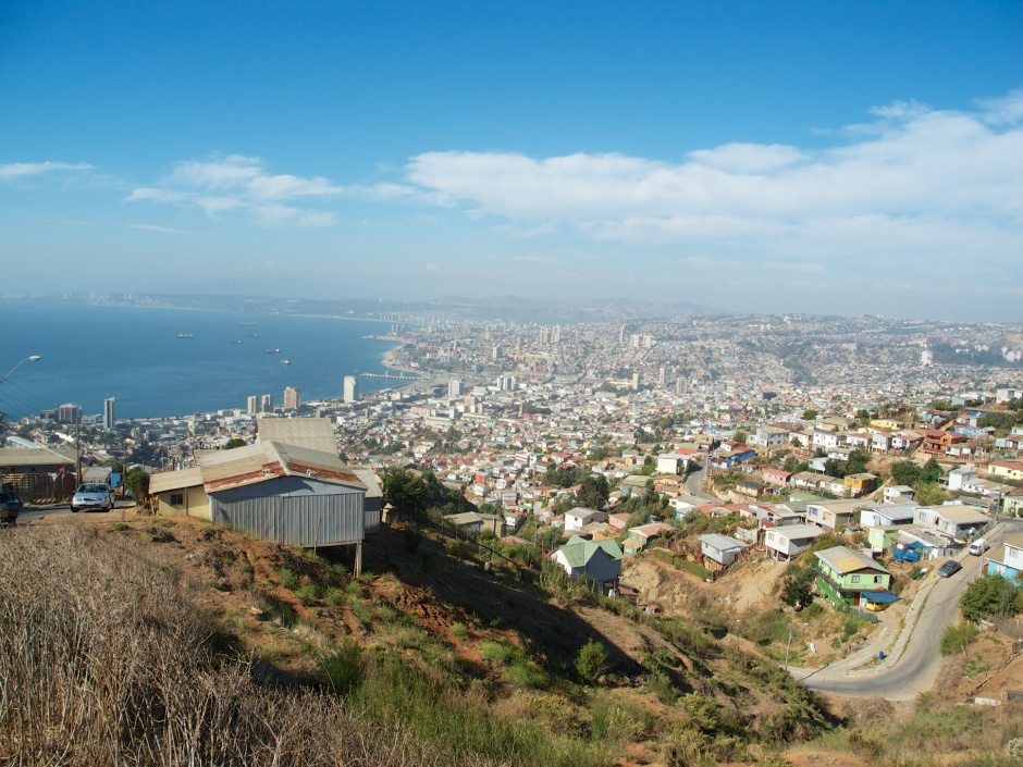 View of Valparaiso from the highest point in the city.