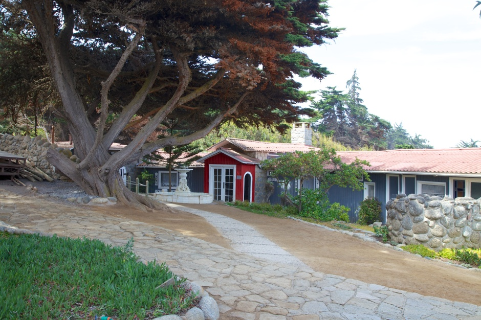 The courtyard of Isla Negra