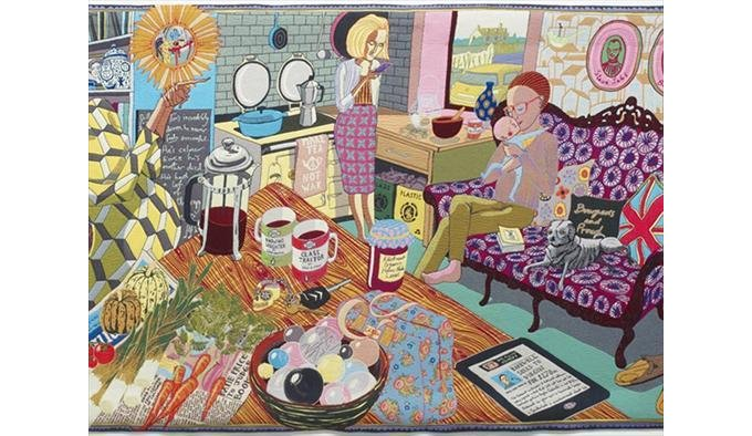 The Annunciation of the Virgin Deal (detail), 2012 by Grayson Perry