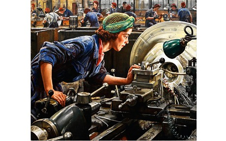 Ruby Loftus Screwing a Breech Ring, 1943