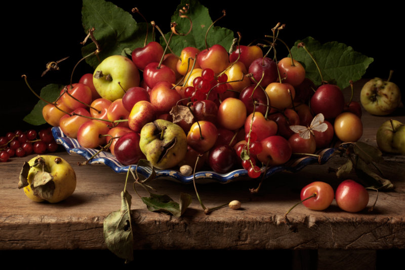 Yellow Cherries and Crab Apples GG ©Paulette Tavormina