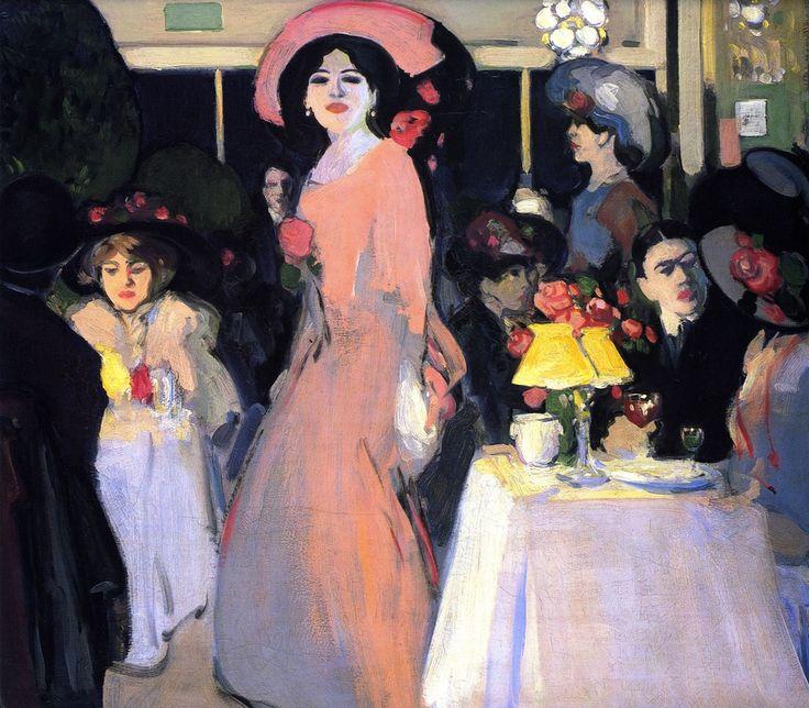 La Terrasse, Cafe D'Harcourt, c.1908, JD Fergusson