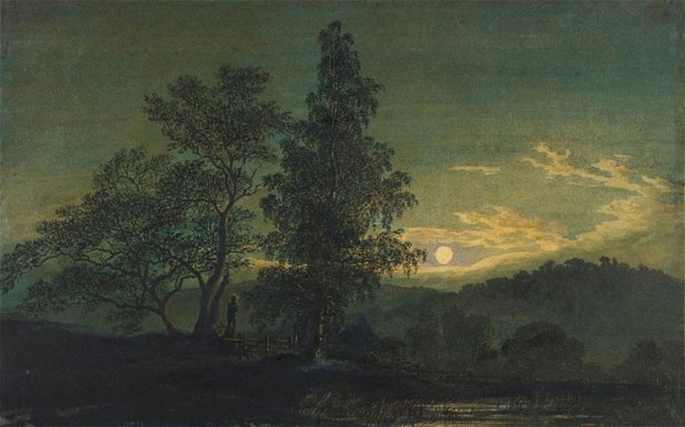 Moonlit Landscape, 1837, Caspar David Friedrich