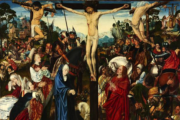 The Crucifixion, The Master of the Aachen Altarpiece, c1490