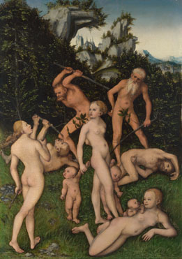 The Close of the Silver Age, Lucas Cranach the Elder, c1516