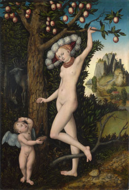 Cupid complaining to Venus, Lucas Cranach the Elder, 1525