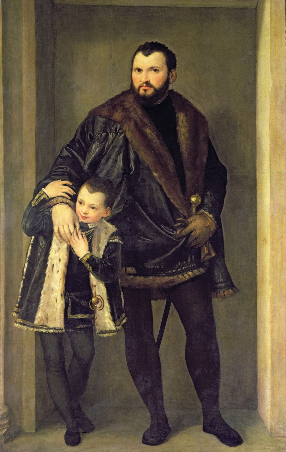 Veronese, Iseppo da Porto and his son Leonida, 1552