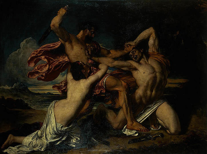 William Etty, Mercy interceding for the vanquished, 1825