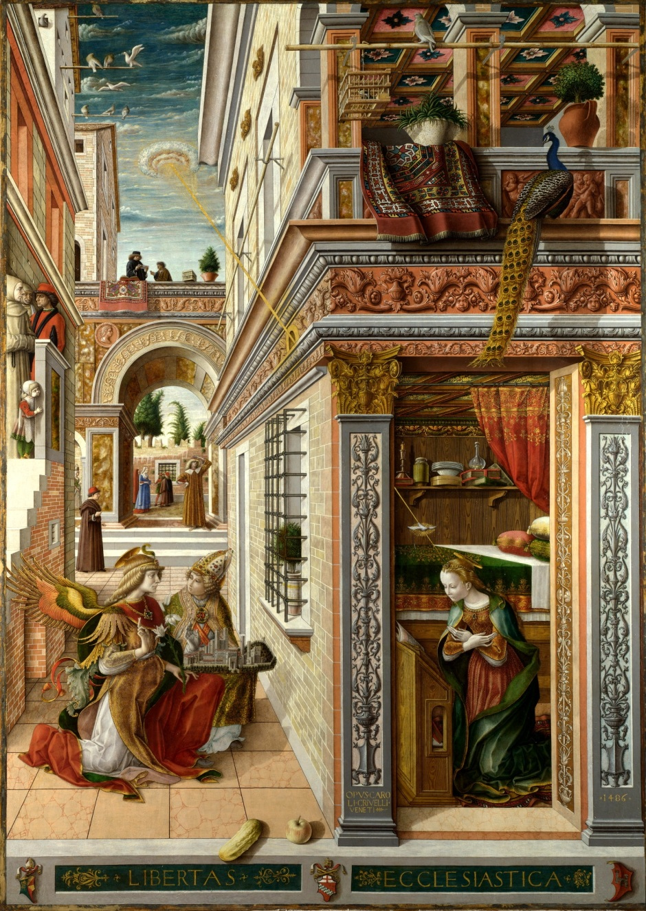 Carlo Crivelli, The Annunciation with St Emidius, 1486