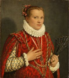 Portrait of a Young Lady with a Fan, c1575