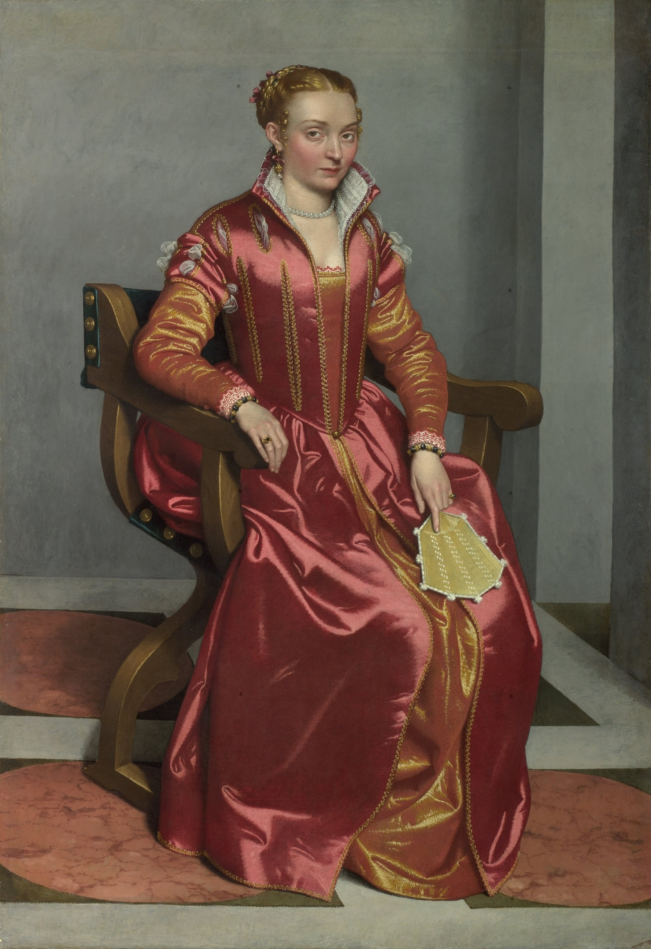 Portrait of Lucia Albani Avogadro (The Lady in Red), c1555-60
