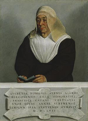 Portrait of Lucrezia Vertova Agliardi, 1557
