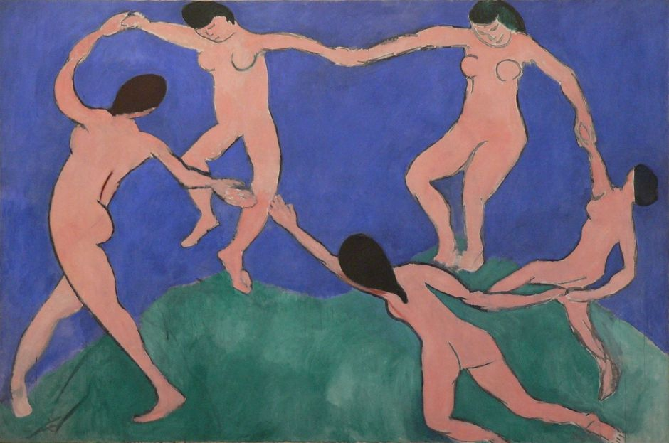 La Danse (1) by Henri Matisse, 1909-10. The search for the ideal form in the female nude continues.