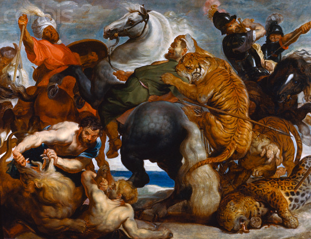 Tiger, Lion and Leopard Hunt (c1617)