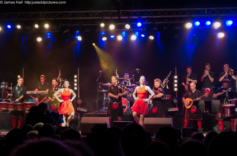 With the Red Hot Chilli Dancers to the fore, the excellent Red Hot Chilli Pipers brought in the New Year  in the best possible way.