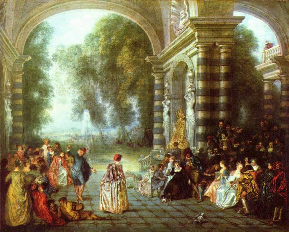 The Pleasures of the Ball by Watteau (1714)