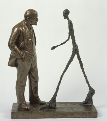 Meeting of Two Sculptures (Lenin and Giacometti), Leonid Sokov, 1990 This wonderful piece serves to demonstrate better than any words the absence of any common value system for a shared interpretation of C20 art.