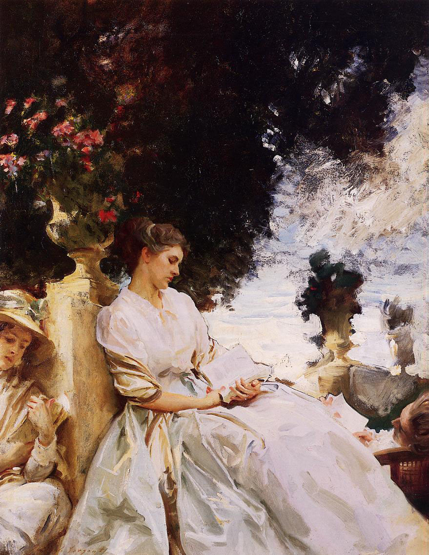 In the Garden, Corfu (1909) This is one of the last pictures in the exhibition. Sargent has abandoned the bold and direct portraiture with which he launched his career and is content to restrict himself to impressionist sketches. It is a nice and pleasant picture but neither great nor distinctive. Whilst some great artists use the last part of their career to make bold final statements, Sargent retreated to sketching.