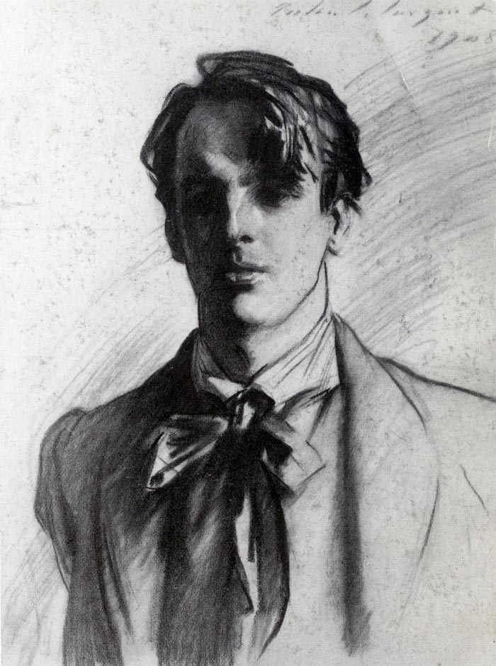 WB Yeats (1908) There are just six charcoal drawings in the exhibition but they are all fine. This picture of WB Yeats is one of the best.