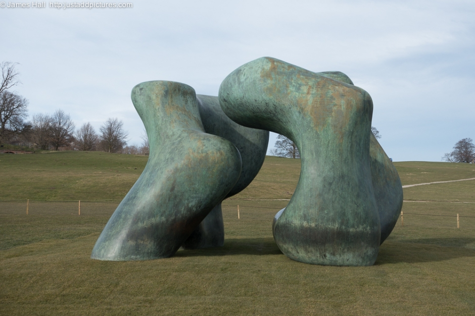 Large Two Forms, 1966-69 This is one of the largest works in the exhibition. Although titled as an abstract work 'two forms', the sensuous shape of this piece strongly recalls the female form. The opportunity to see this piece alone is reason enough to visit the Yorkshire Sculpture Park this year.