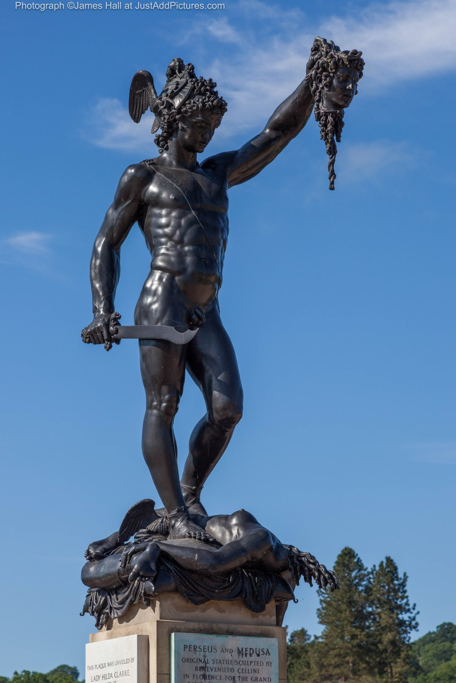 This superb bronze of Perseus and Medusa by Cellini is a highlight of Trentham Garden and was a core exhibit at the recent exhibition Bronze at the Royal Academy.