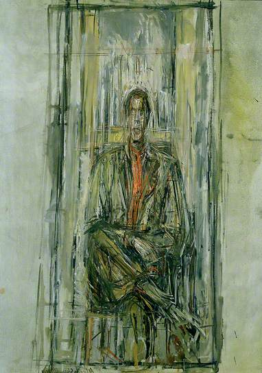 Diego Seated, 1948 Albert's brother Diego was perhaps his most persistent model over the course of the artists life.