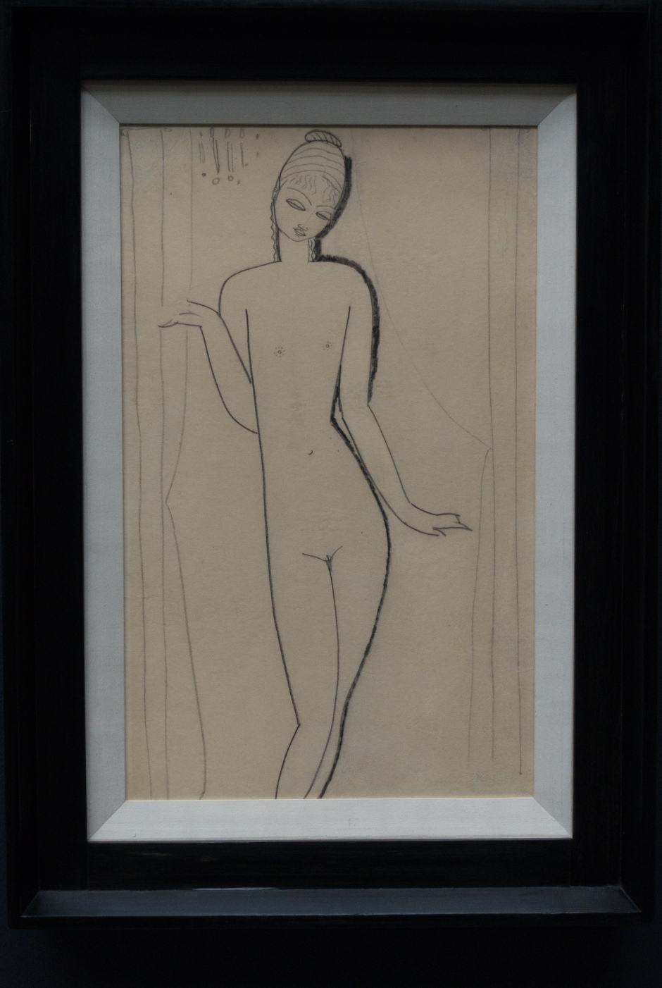 This Modigliani line drawing caught my attention, but unfortunately I did not record the details and cannot find the image in the catalogue