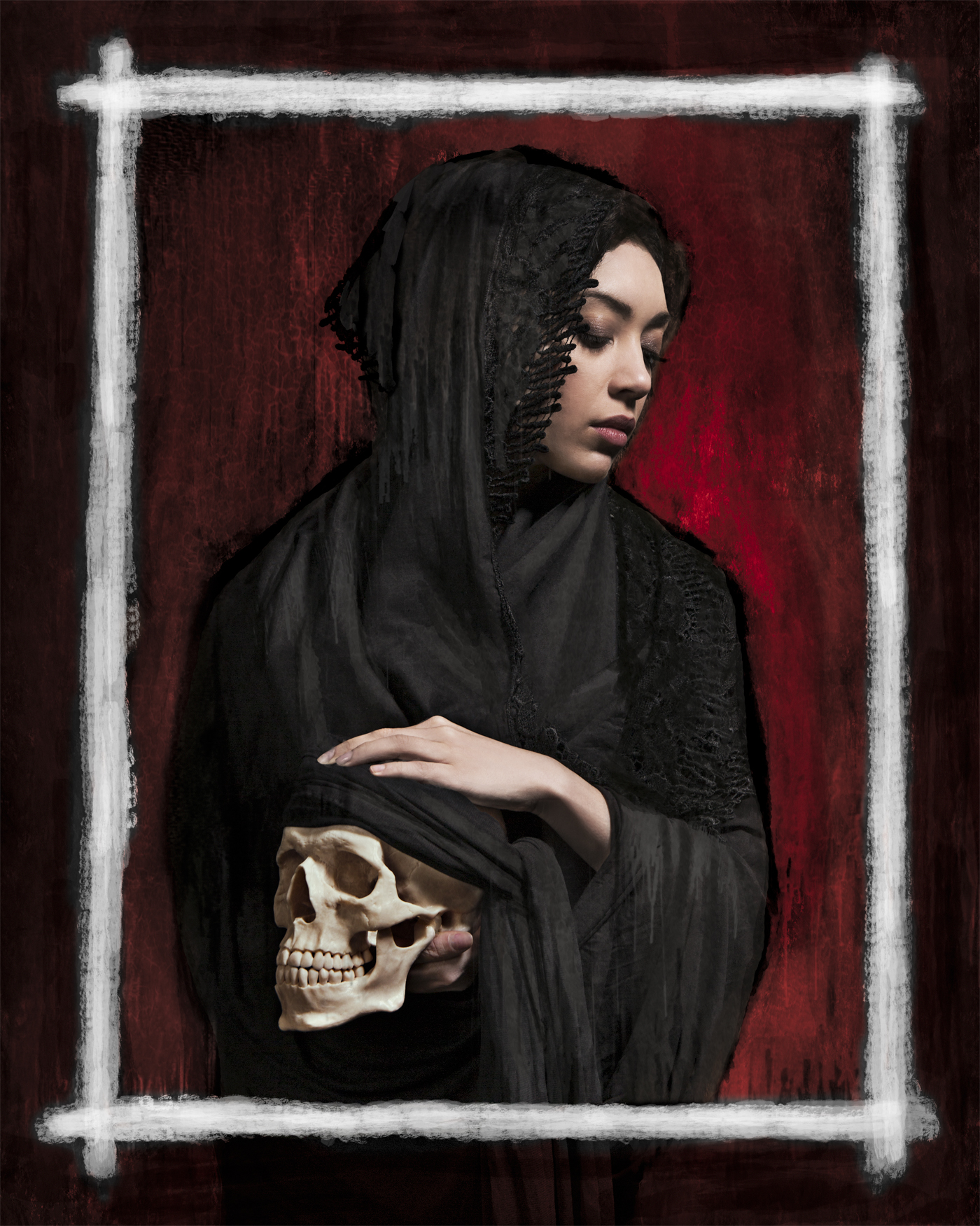 BEHANCE_mantilla_and_skull_RED