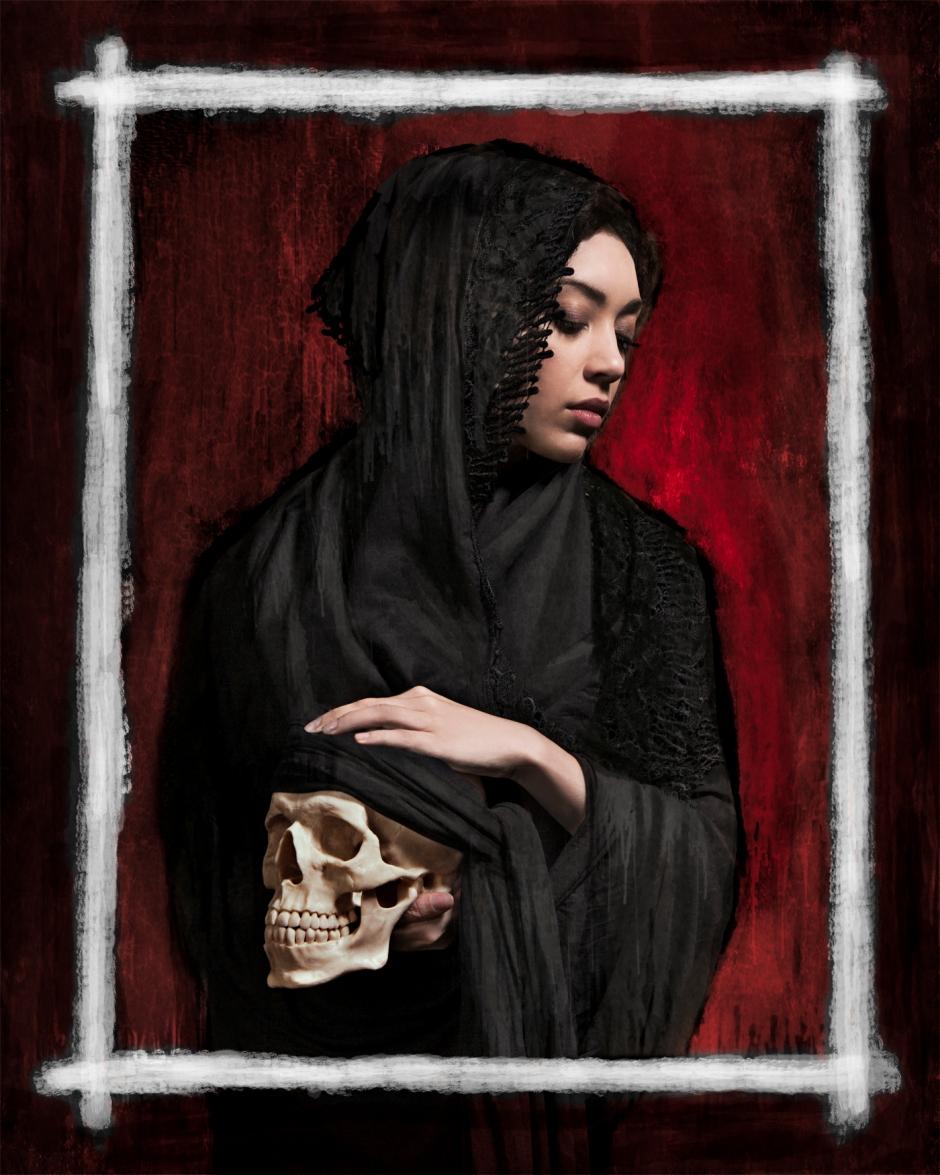 BEHANCE_mantilla_and_skull_RED