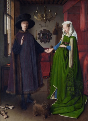 The Arnolfini Portrait (1434) by Jan van Eyck (d. 1441).