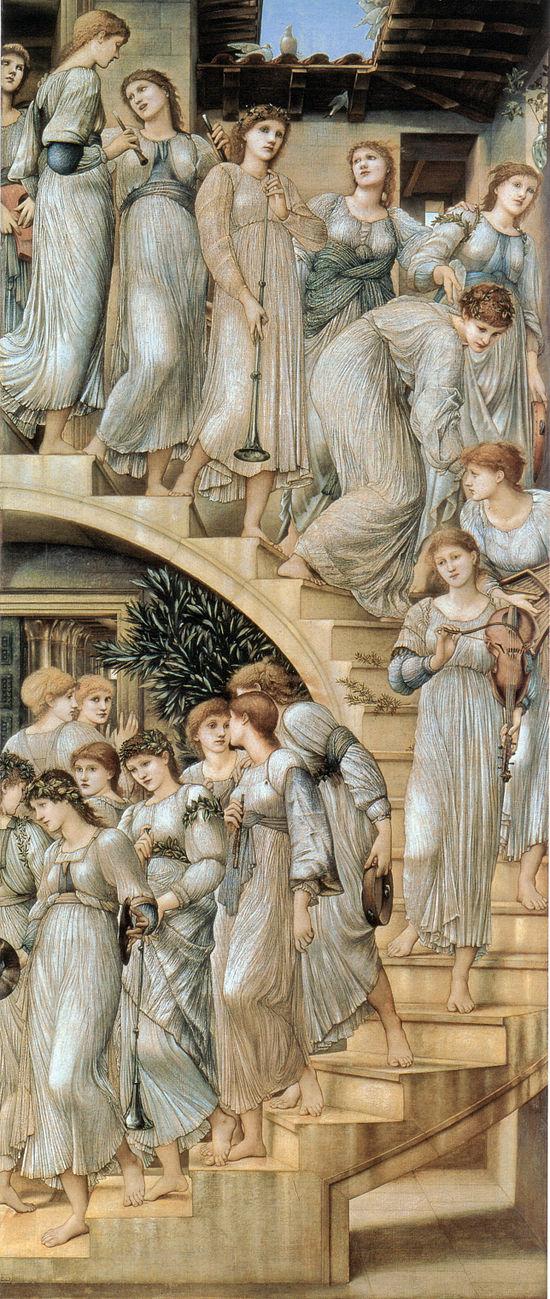 550px-Edward_Burne-Jones_The_Golden_Stairs