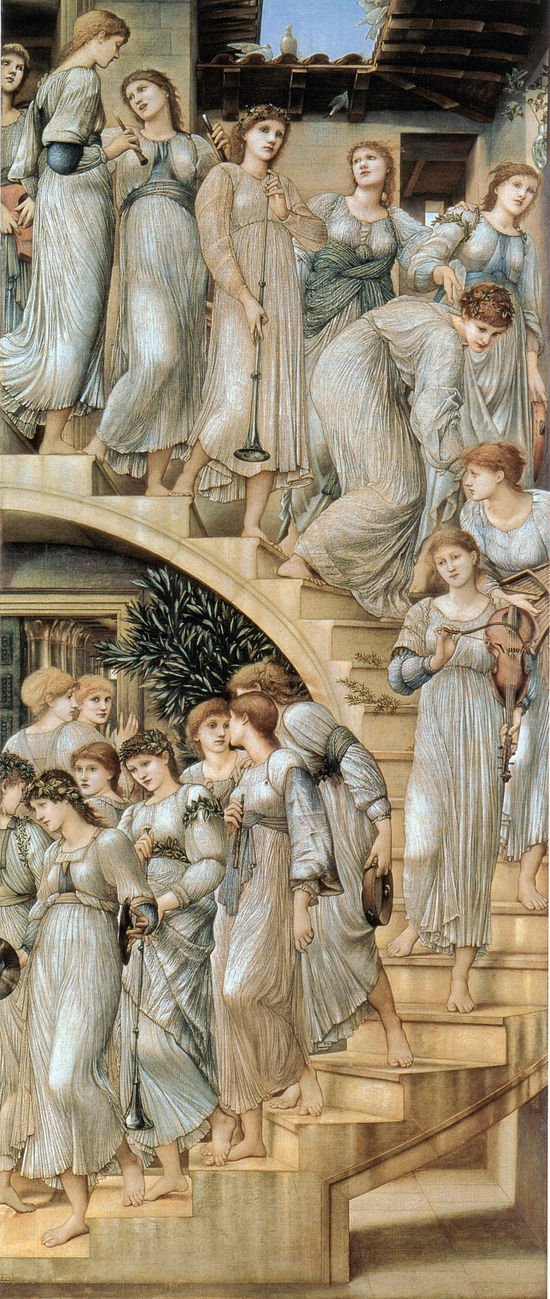 550px-Edward_Burne-Jones_The_Golden_Stairs