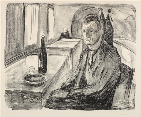 edvard-munch-self-portrait-with-a-bottle-of-wine